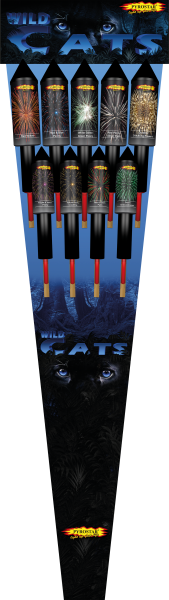 Wild Cats Raketensortiment 9-tlg