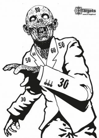 X-Targets - Zombie Snobby Zielscheibe
