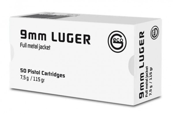 Geco White Box 9mm Para - 7,5g - 50er