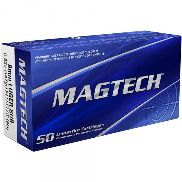 Magtech - 9mm Luger FMJ Subsonic 9,55g/ 147gr.