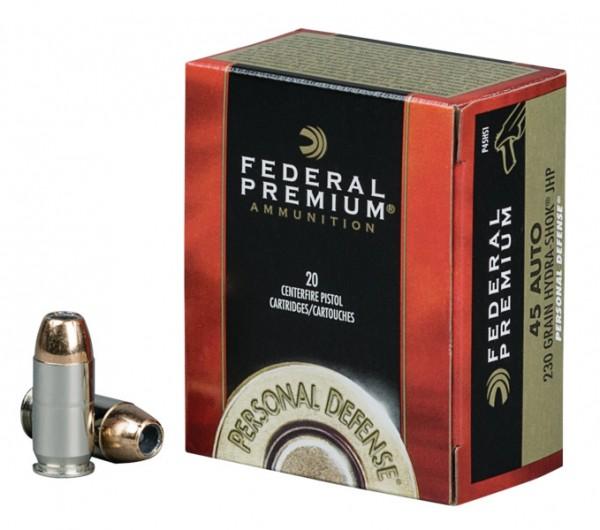 Federal Prem. .45 Auto 230gr Hydra-Shock JHP