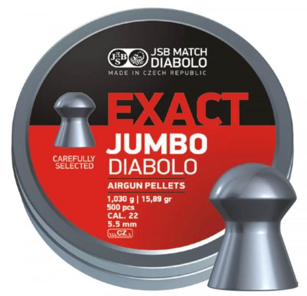 JSB Diabolo Exact Jumbo Heavy 5,5mm / 500 Stk.