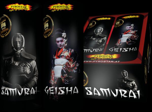 Geisha & Samurai Fontänenbatterie 2-tlg