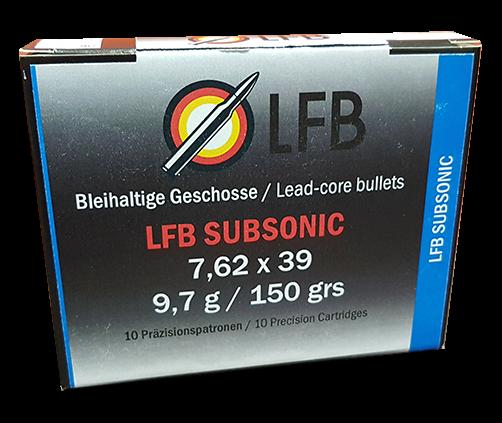 LFB Subsonic 7,62x39 - 9,7g/150grs