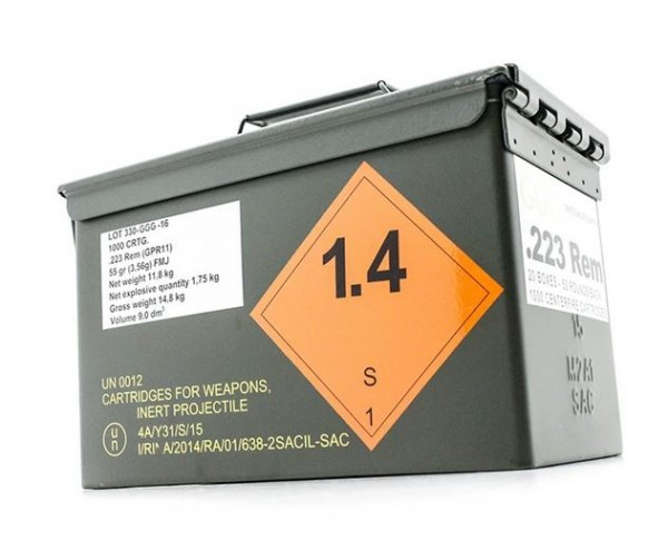GGG .223 Rem 55gr. FMJ - 1.000 Schuss Nato Box