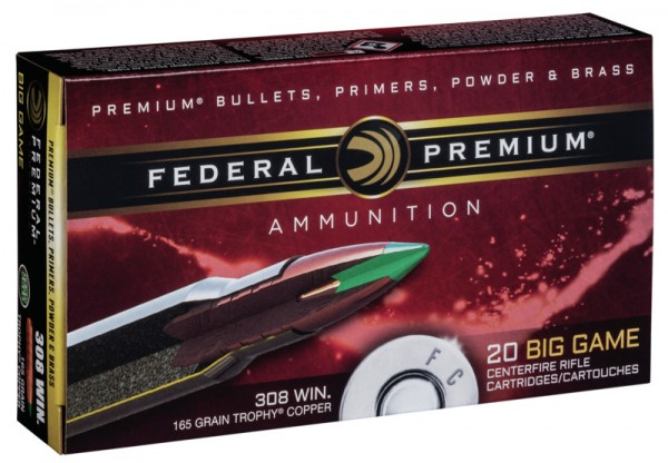 Federal Premium .308Win 165grs / 10,7g Trophy Copper