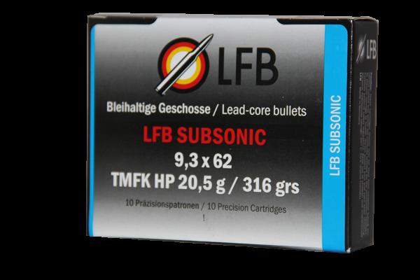 LFB Subsonic 9,3x62 TMFK HP 20,5g / 316grs