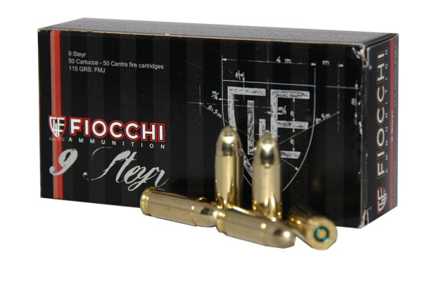Fiocchi 9mm Steyr 115grs FMJ
