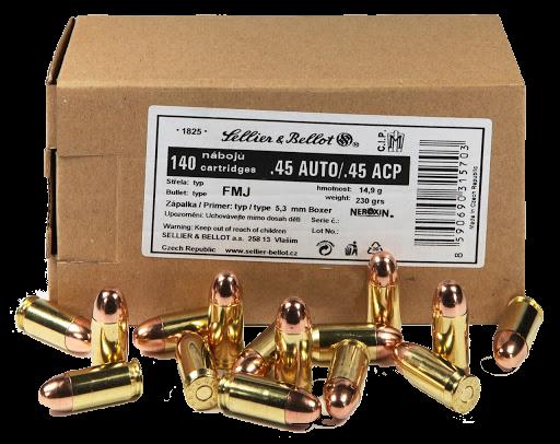 S&B .45ACP Schüttpackung 140 Schuss