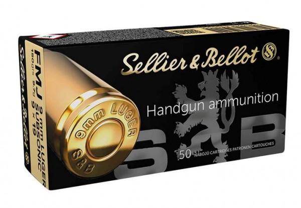 S&B 9mm Para Subsonic - 150gr / 9,7g - 50er