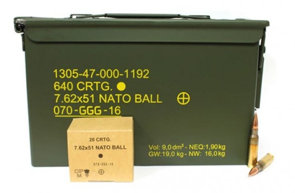 GGG .308 Win / 7,62x51 NATO Ball Box - 640 Schuss