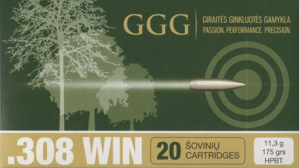 GGG .308Win SMK HPBT 175grs/11,3g