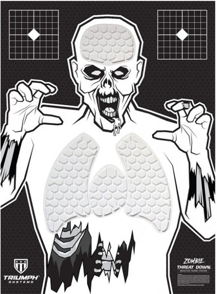Threat Down Bleeding Zombie Target