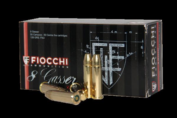 Fiocchi 8mm Gasser 126grs FMJ