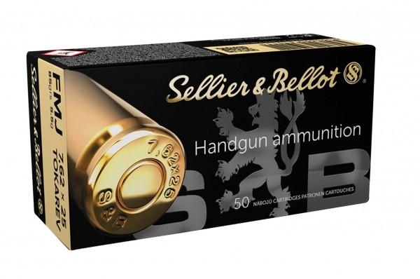 Sellier&Bellot 7,62x25 Tokarev FMJ 85grs